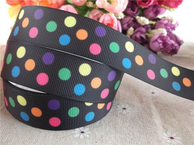 """Nueva llegada 7/8 """"22mm cinta de grosgrain estampada regalo paquete regalo DIY accesorios para el cabello 5 yardas"""