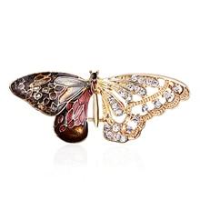 Papillon Bragonfly oiseau broches animaux broches hommes et femmes métal strass insectes Banquet mariage broche cadeaux