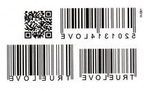 10 pièces deux dimensions code à barres caractère code émulation hommes et femmes tatouage autocollants imperméable couverture durable faux tatouages