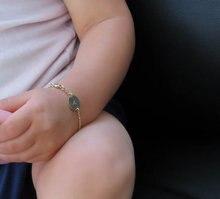 Remplir bébé Bracelet 2 pièces, initiale bébé enfant bébé fille grande taille Bracelet, personnalisation manuelle laser gravure cadeau