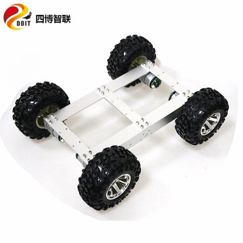 SZDOIT C4 4WD Mobile Robot Metal Chassis Heavy Load + 4 Pcs Motor Diy Educational Intelligent Platform enlarge