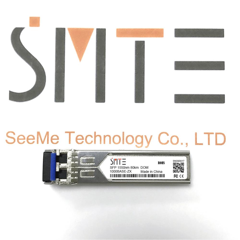 Compatible con Allied Telesis AT-SPLX80 1000BASE-ZX 1550nm 80km transmisor DDM módulo SFP