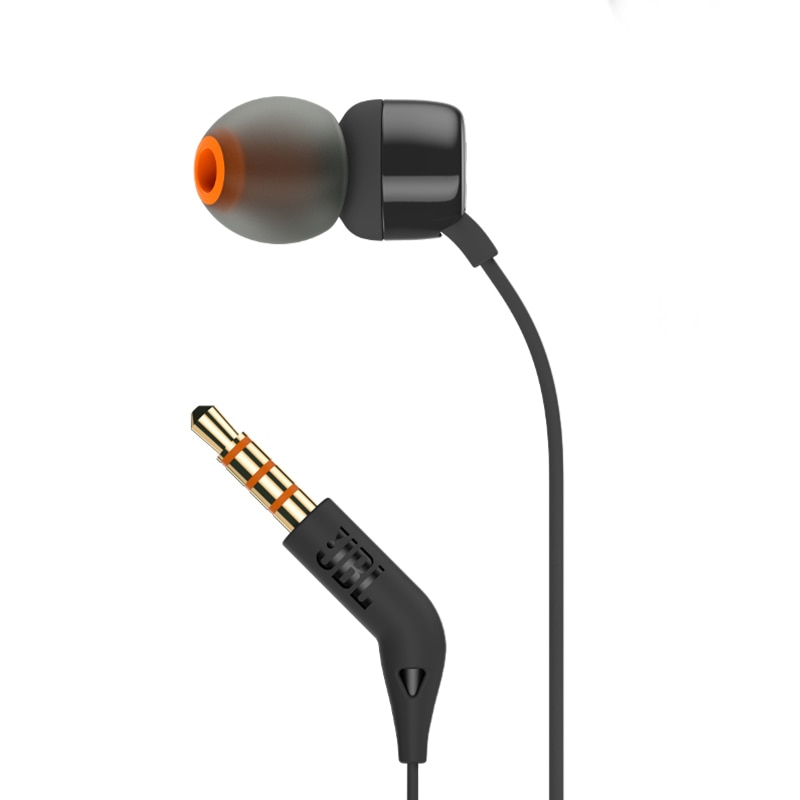 JBL T110 3.5mm Wired Earphone TUNE 110 Stereo Music Deep Bass Earbuds Headset Sport Earphone In-line Control Hands-free with Mic enlarge
