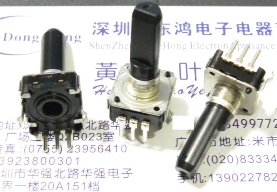 2 unids/lote Original Alps Alpine EC12E24204A9 codificador interruptor 24 posicionamiento 24 pulso 20 eje largo