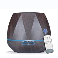 550mlwood grain electric aromatherapy essential oil diffuser ultrasonic cool mist air aroma humidifier with led lamp for home