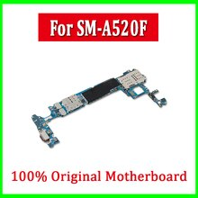 Placa-mãe para samsung galaxy a5 a520f original desbloqueado para galaxy a5 a520f mainboard chips completos placa lógica