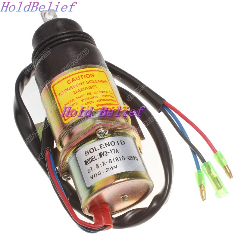 Solenoide de apagado de combustible de alta resistencia para ISUZU 6BB1, 6B61, 4J62, 4J61 24 V