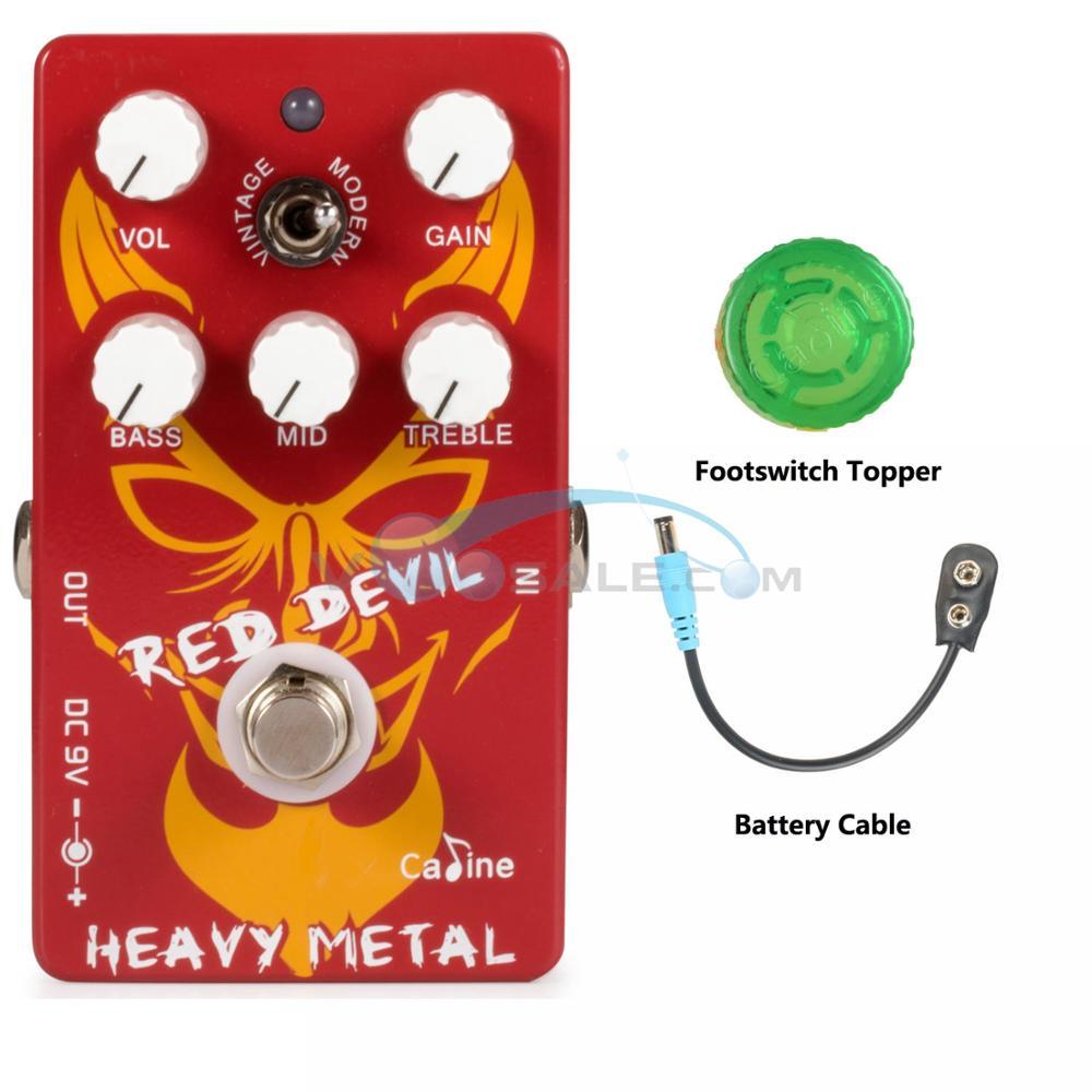Caline CP-30 Pedal de Metal pesado, piezas de Pedal de guitarra, accesorios de guitarra, efecto de Pedal de guitarra de Bypass real, Pedal de Metal pesado