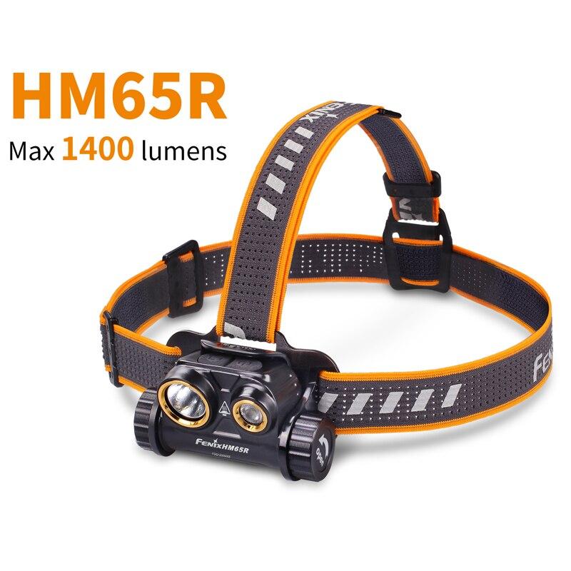 FENIX HM65R 1400 Lumens Tri-preuve lampe frontale en magnésium pour lextérieur longue durée et haute intensité comprennent la batterie