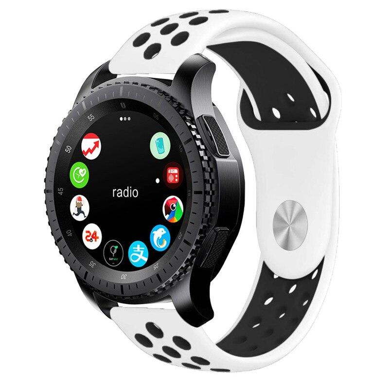 Силиконовый сменный ремешок для часов Samsung Galaxy 46 мм 22 мм для Gear S3 Frontier Classic band 20 мм S2 браслет