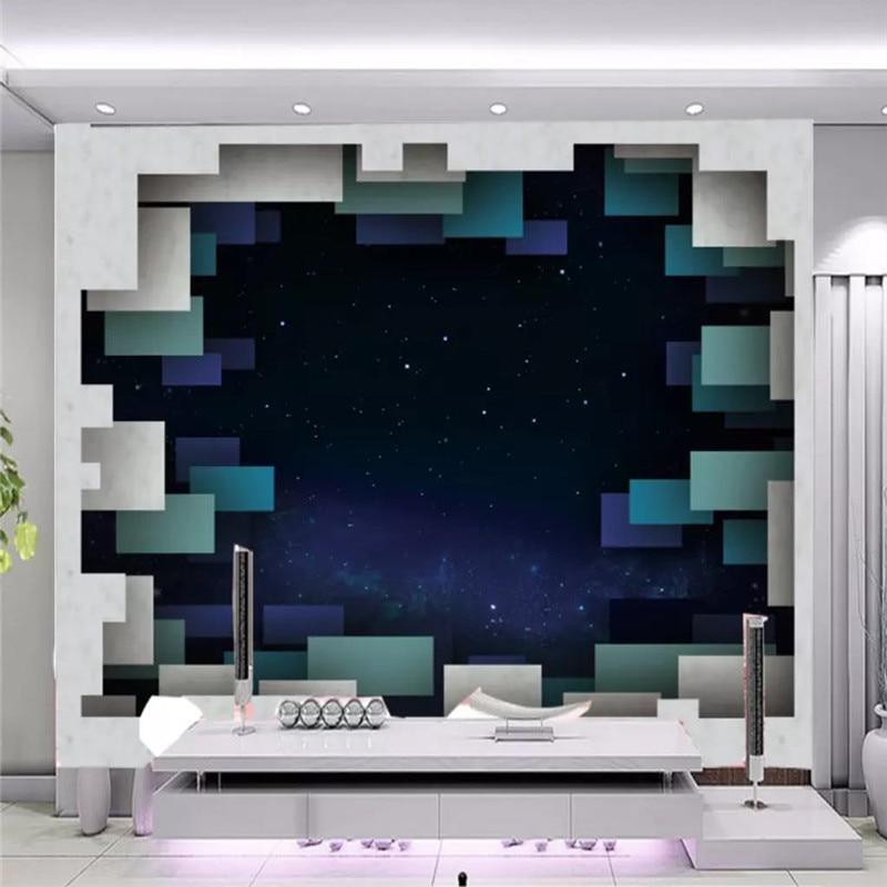 Custom wallpaper 3D square star background wall high-grade waterproof material недорого