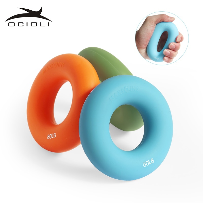 Hand Finger Trainer Silica Gel Portable Hand Grip Gripping Ring Carpal Expander Stretch Exercise Wrist Rehabilitation Developer