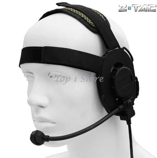 Z-tactical bowman evo iii tático fone de ouvido dupla face design jogos airsoft caça fone de ouvido bk z029