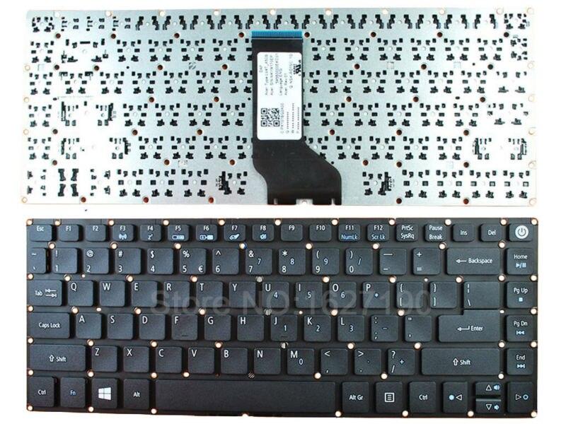 Клавиатура США для Acer Aspire E5-473 E15 E5-573G 582P 573G-56AV 507H 54G6 черный для Win 8 Новые клавиатуры для ноутбуков с