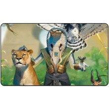 Tapis de jeu de cartes à collectionner magique VIZIER de la ménagerie art tapis de jeu de société 60 cm x 35 cm (24