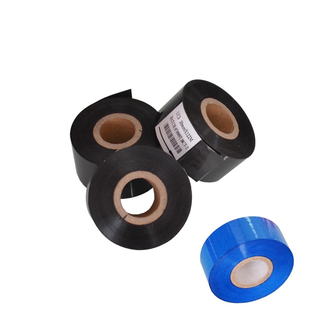 Preto 30mm de Largura comprimento 100m rolo selo fornecedores para sacos de embalagem