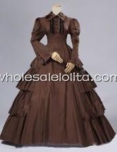 Vintage Umber victorien inspiré période robe reconstitution théâtre Costume