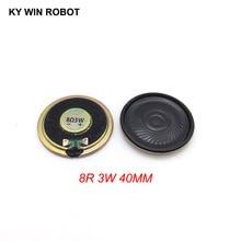 Mini altavoz ultradelgado de 8 ohmios, 3 W, 8R, diámetro de 40MM, 4CM, grosor de 5,5 MM, 2 unids/lote