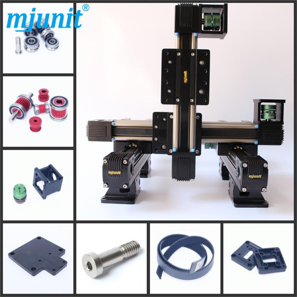 MJUNIT-عمود حركة خطي CNC ، محور موضع xy ، سلسلة دعم الشريحة ، سكة ألومنيوم عالية الجودة
