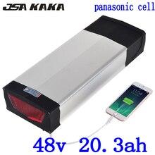 Batterie au Lithium 48 V support arrière batterie de vélo électrique 48 V 20AH utiliser la cellule panasonic avec pour moteur 48 V 1000 W 1500 W 2000 W ebike