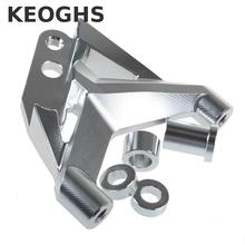 Keoghs Motorcycle 100mm Brake Caliper Bracket/adapter Cnc Aluminum For Fastace Front Absorber For 220 260mm Brake Disc
