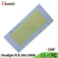 Full watt 150W LED PCB SMD 5730 COB lamps chip 240x110mm 16500lm DC20-39V aluminum plate base Borad light source for floodlights