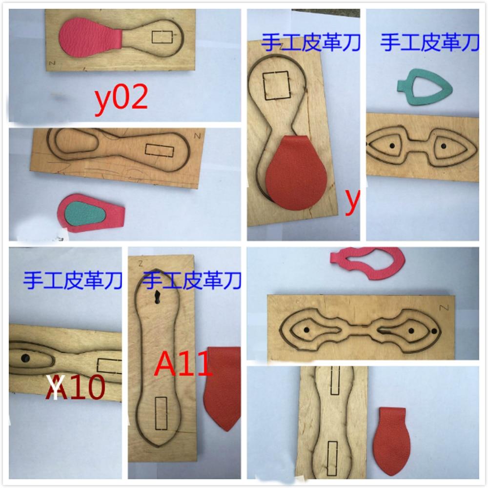 DIY Кожа ремесло кольцо для ключей высечки нож форма мульти дизайн для выбора точного и легкого использования