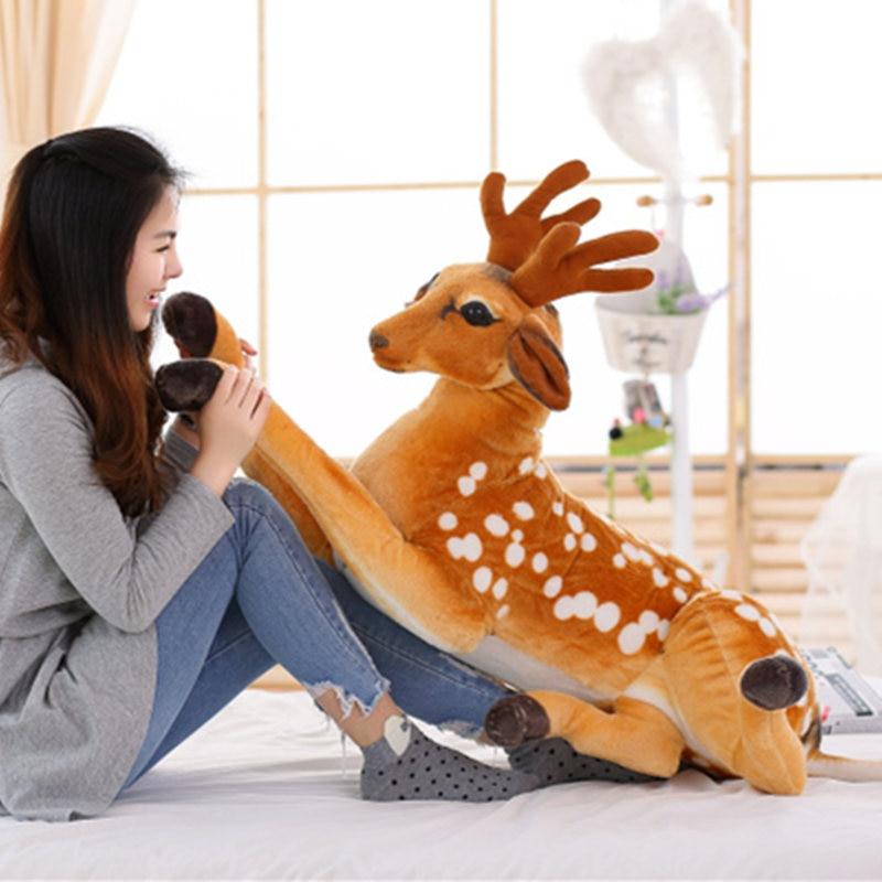 1pc 40cm SimulationStuffed Plush Sika Deer Toy for Kids Baby Doll Children's Birthday Gift