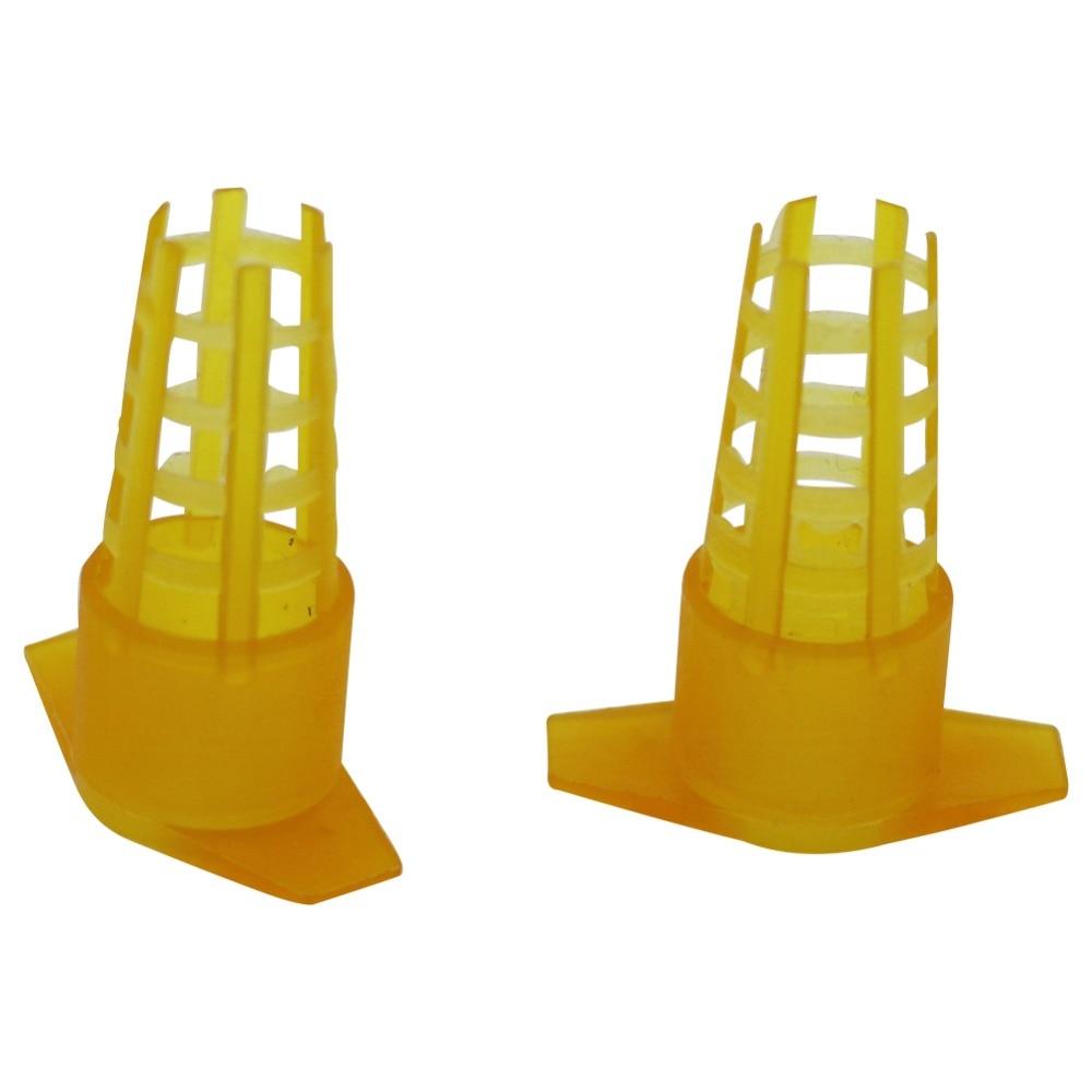 10 шт. инструменты для пчеловодства Желтая пластиковая клетка для пчеловодства Защитная крышка для сотового протектора Клетки Оборудование для пчеловодства