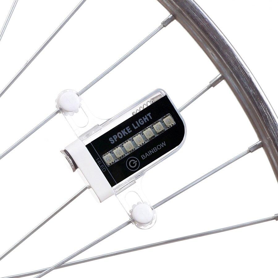 Цветные светодиоды Deemount, 14 RGB светодиодов, подсветка велосипедного колеса, сигнальная лампа, 30 моделей, переключатель, датчик движения