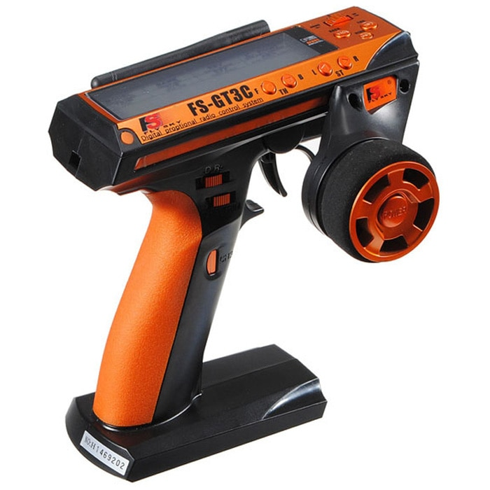 Flysky-FS-GT3C GT3C 2,4G 3CH Gun RC controlador/w receptor, batería TX, cable USB,...