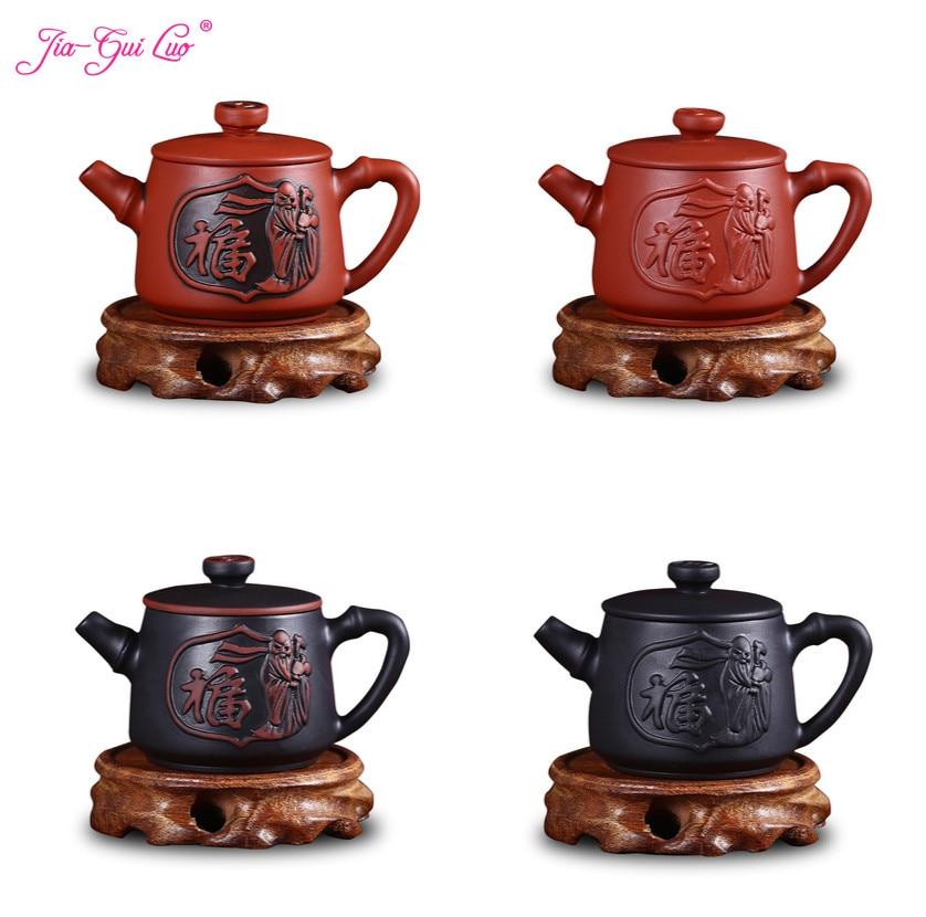JIA-GUI LUO  120ML Purple Clay  Yixing Teapot  Traditional Chinese Tea Set  Oolong Tea Portable Travel Tea Set H018