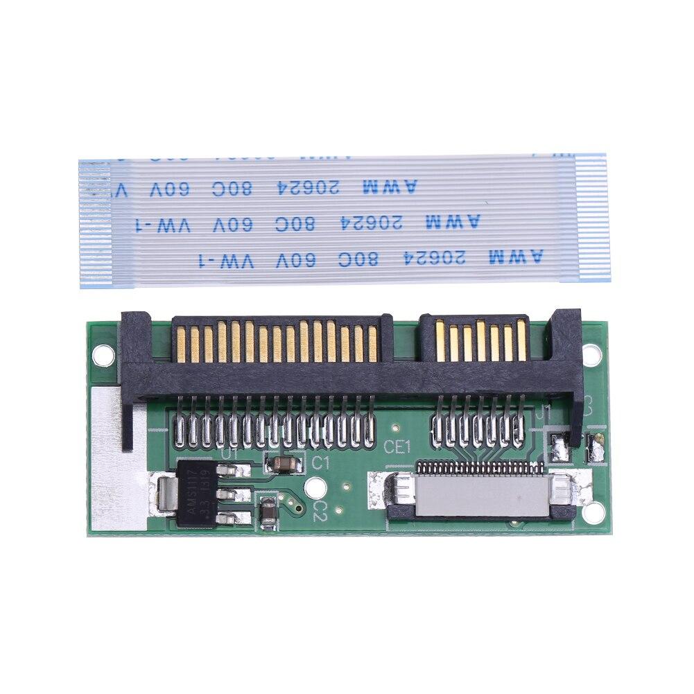 """1,8 """"ZIF/LIF CE HDD Festplatte SSD zu 7 + 15 22 Pin SATA Adapter Konverter für Macbook air für Toshiba für Samsung SSD"""