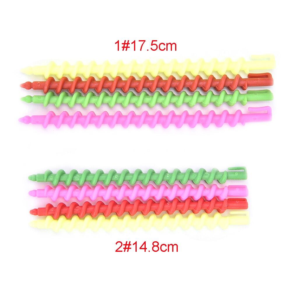 23 Uds 2 rodillos de plástico SizesMagic en espiral para el cabello, barras rizadoras, herramientas de peluquería, tornillo giratorio