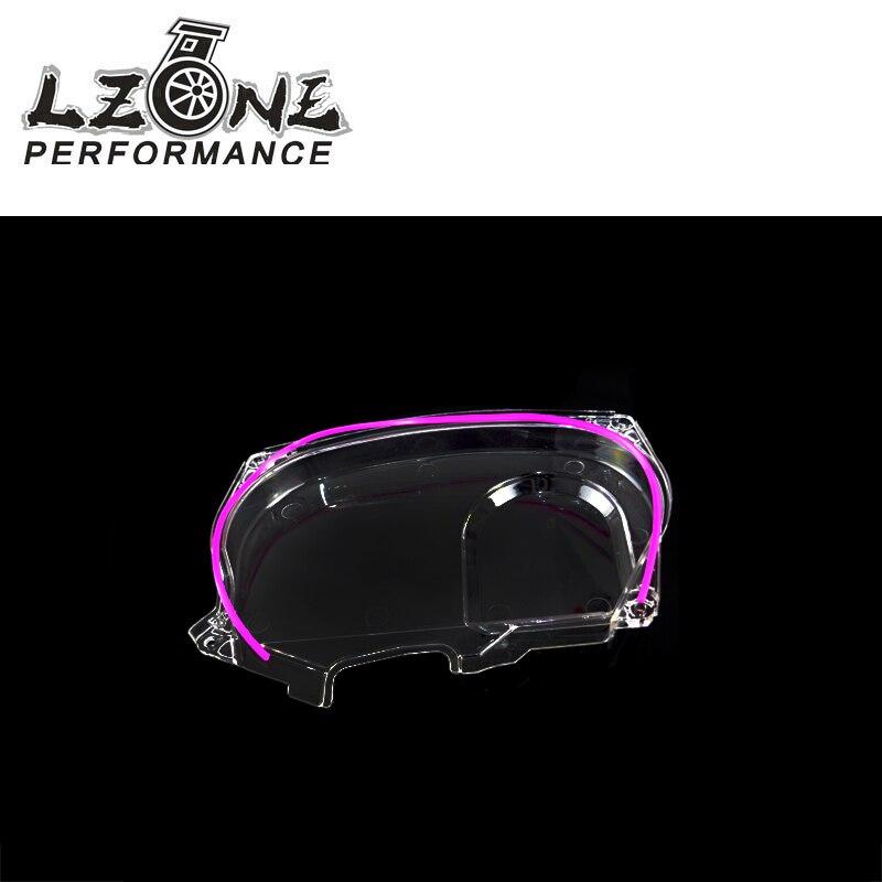 LZONE-Klar Cam Getriebe Zahnriemen Abdeckung Pulley Für Mitsubishi Lancer Evolution EVO 9 IX Mivec 4G63 JR6334