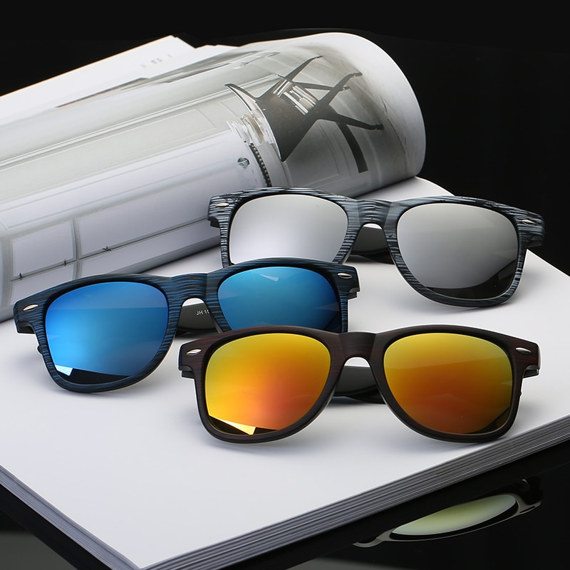 Hombre gafas de sol clásico de bambú de las uñas, gafas de sol de color de moda gafas de sol retro tendencia de los hombres salvajes gafas de sol