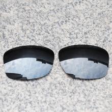 E.O.S Polarize Gelişmiş Yedek Lensler Oakley Jüpiter Kare Güneş Gözlüğü-Siyah Krom Polarize Ayna