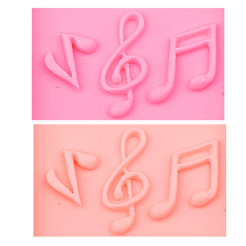 M0555 Music Notes Shape Silicone Mold, For Fondant Cake Mold, Bakware Tools, Soap Mold ,Sugar Tool