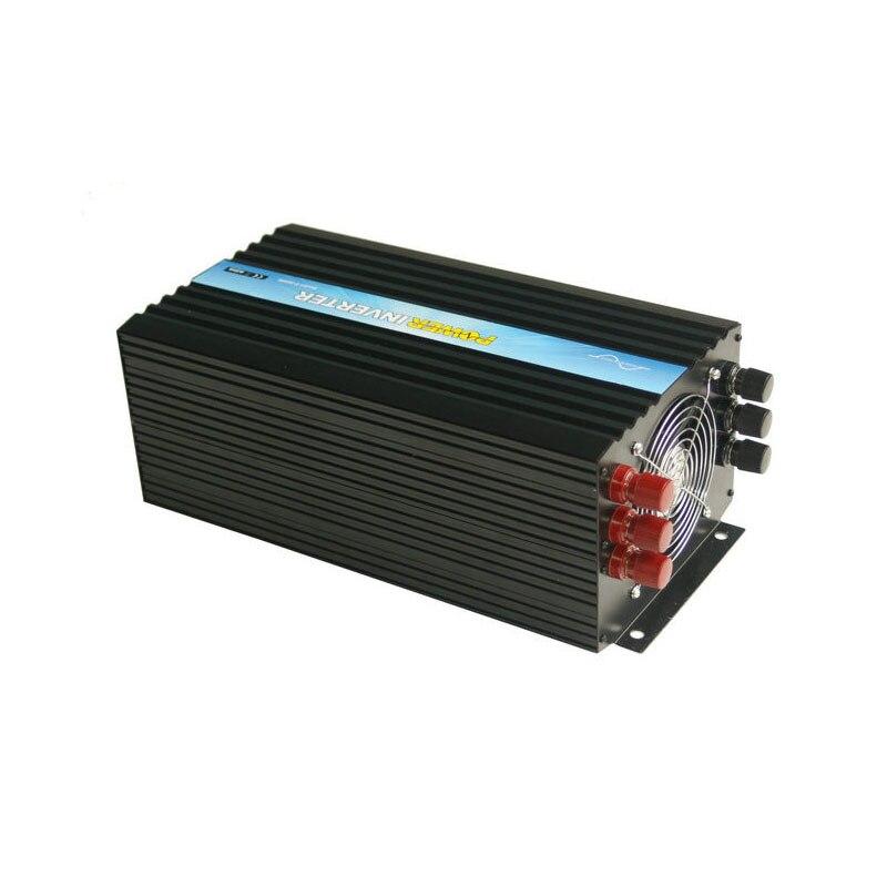 Certificaciones CE & ROHS, uso doméstico, inversor de onda sinusoidal pura, transformador de potencia de 24v 220v 3000w, inversor pico de alta frecuencia de 6000w