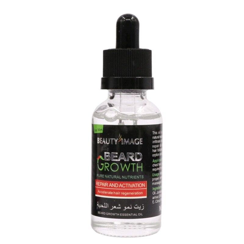 Barba bigote pecho cabello crecimiento esencia líquida más gruesa esencia aceite potenciador hidratante alargamiento grueso