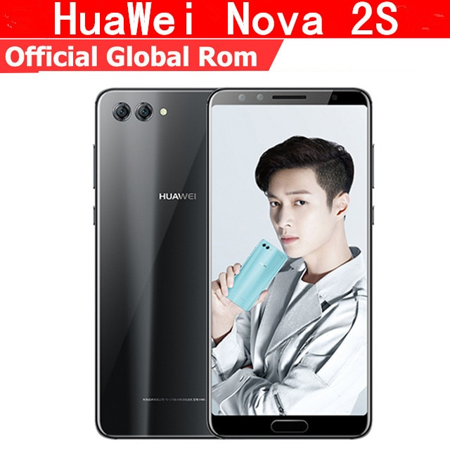 "Original huawei nova 2 s 4g lte telefone móvel kirin 960 android 8.0 6.0 ""tela cheia 6 gb ram 64 gb rom impressão digital nfc tl00/al00"