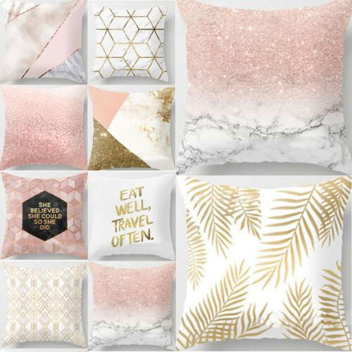 HOT 2019 Home złota błyszcząca drukowana rzut poliestrowy poduszka poduszka