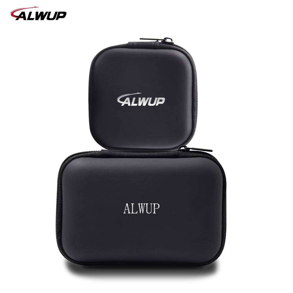 Alwup Earphone Accessories Headphone Case Bag Portable Earphone Earbuds Hard Box Storage for Memory Card USB Cable Mini Earphone