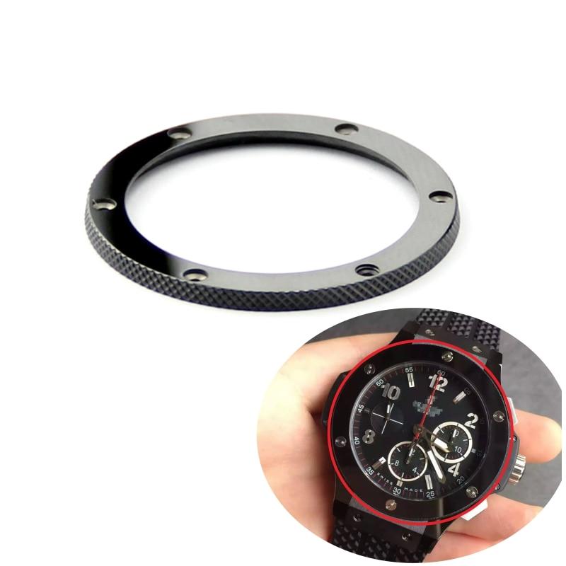 Corona de bisel de reloj de cerámica brillante Negro de lujo de alta calidad para big bang y fusión clásica 44mm 45mm 39mm accesorios de reloj
