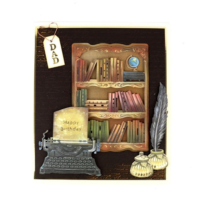 Vintage Book Shelf Metal Cutting Dies Stencil For Scrapbooking Paper Cards Crafts Handmade Embossing Decor New 2019 Dies Cut