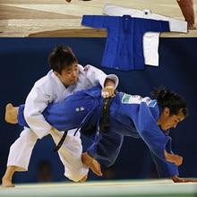 2016new bleu et blanc coton dobok Jiu Jitsu gi Judo uniforme Standard Taekwondo arts martiaux uniforme formation costume de compétition