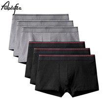 6 teile/los Heißer Verkauf Mens Boxer Shorts Baumwolle Sexy Männer Große Größe Unterwäsche Herren Unterhose Männlichen Höschen Shorts U Konvexen beutel 6XL