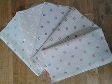 Tissu Vintage en coton et lin, 24x25cm, 5 pièces, étoffe Zakka colorée chrysanthème, pour bricolage