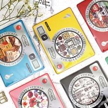 30 pcs Vintage newspaper camera phone sticker DIY diary scrapbooking gift cards decoration sticker childrens kawaii stationery