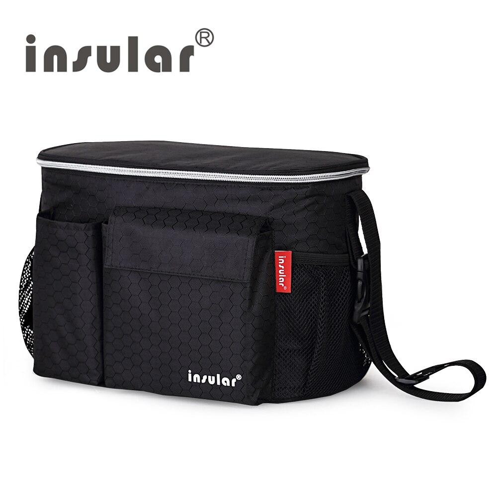 Изоляционные термоизоляционные сумки для детских подгузников, водонепроницаемые сумки для пеленания колясок, сумки-кулеры для мам